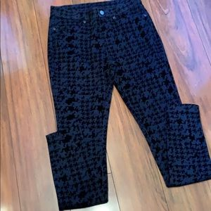 Hue Blue And Black Stretch Pants NWT